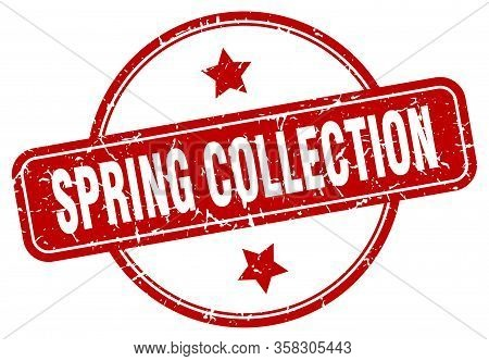 Spring Collection Stamp. Spring Collection Round Vintage Grunge Sign. Spring Collection