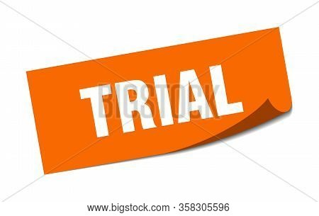 Trial Sticker. Trial Square Isolated Sign. Trial