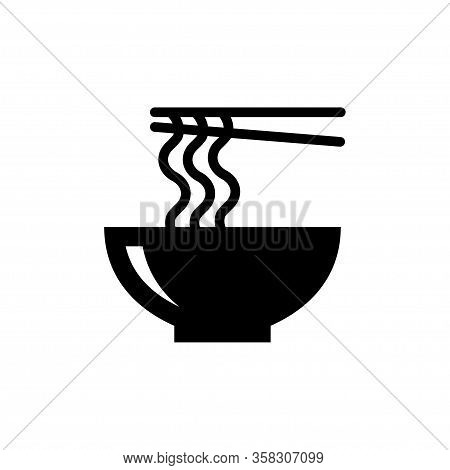Noodle Food Icon Vector Template Design Trendy