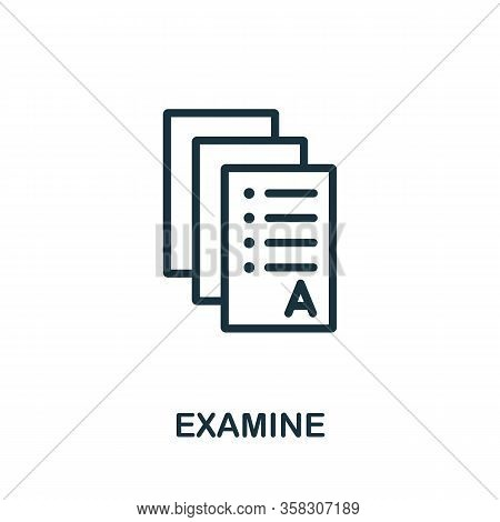 Examine Icon. Simple Element From Audit Collection. Filled Examine Icon For Templates, Infographics