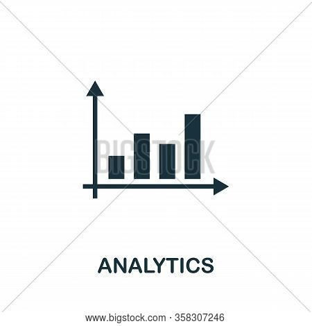 Analytics Icon. Simple Element From Audit Collection. Filled Analytics Icon For Templates, Infograph
