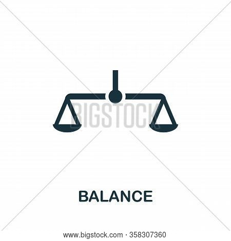 Balance Icon. Simple Element From Audit Collection. Filled Balance Icon For Templates, Infographics
