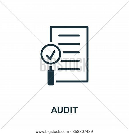 Audit Icon. Simple Creative Element. Filled Audit Icon For Templates, Infographics And More