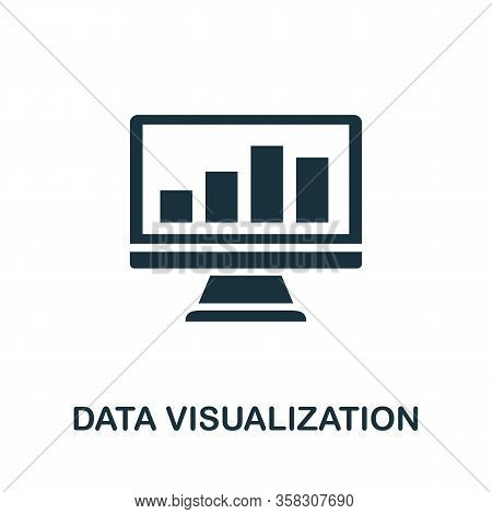 Data Visualization Icon. Simple Element From Business Intelligence Collection. Filled Data Visualiza