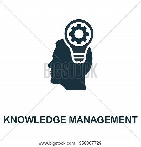 Knowledge Management Icon. Simple Element From Business Intelligence Collection. Filled Knowledge Ma