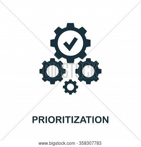 Prioritization Icon. Simple Element From Business Intelligence Collection. Filled Prioritization Ico