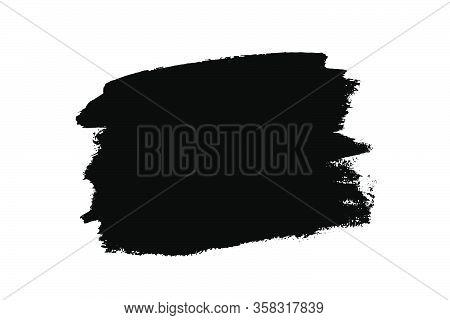 Banner, Frame Or Background For Text. Black Brush Strokes Isolated On White. Ink Splatter. Digitally