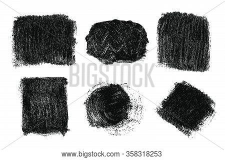 Black Brush Strokes Isolated On White.