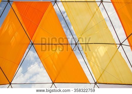 Mobile Dome Decoration Design. A Geodesic Dome Tents. A Hemispherical Thin-shell Structure Lattice-s