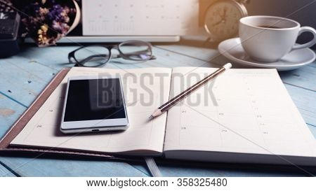 Diary Calendar And Agenda For Planner To Plan Timetable,appointment,organization At Office.desktop C