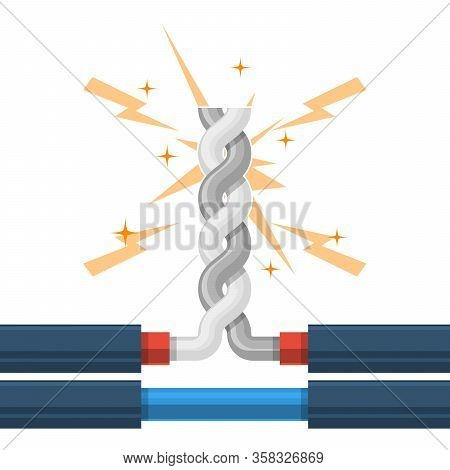 Twisting Of Wires Shorting, High-voltage Cable  Shunt Fault, Short Circuit