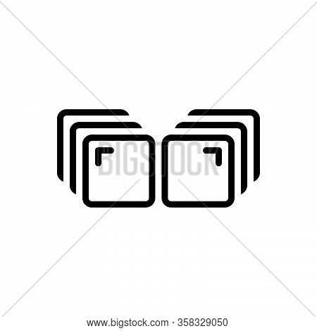 Black Line Icon For Series Category Array List Sequence File Folder Arrange