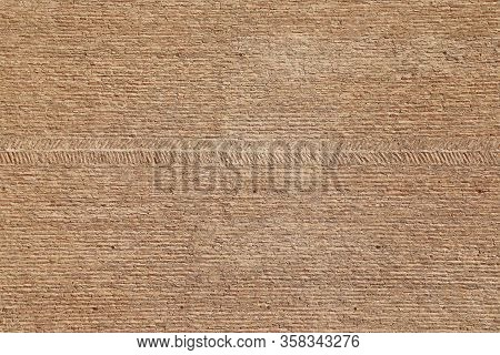 Background Texture Of Craftsmanship In Brown Brick Wall