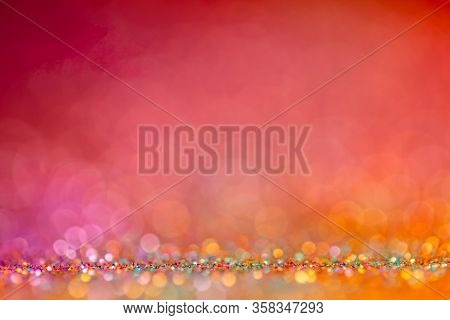 Decoration Bokeh Glitters Background, Abstract Blurred Backdrop With Circles, Modern Design Wallpape