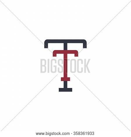 Tt Logo, Letter T And T Monogram Logo Design Template. Stock Vector Illustration Isolated On White B