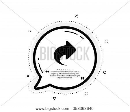 Share Arrow Icon. Quote Speech Bubble. Link Arrowhead Symbol. Communication Sign. Quotation Marks. C