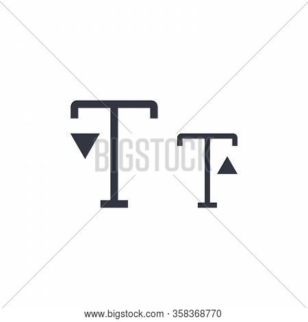 Font Letter Size Smaller Icon. Smaller Size Font. Stock Vector Illustration Isolated On White Backgr