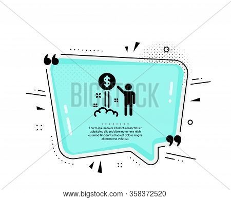 Income Money Icon. Quote Speech Bubble. Wealth Sign. Credit Card Symbol. Quotation Marks. Classic In