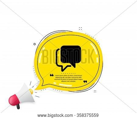 Talk Bubble Icon. Quote Speech Bubble. Speech Bubble Sign. Chat Message Symbol. Quotation Marks. Cla