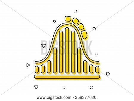 Amusement Park Sign. Roller Coaster Icon. Carousels Symbol. Yellow Circles Pattern. Classic Roller C
