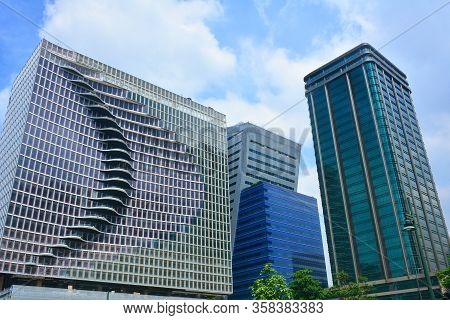 Taguig, Ph- Oct. 1: W City Center Building Facade On October 1, 2016 In Bonifacio Global City, Tagui