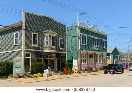 Annapolis Royal, Ns, Canada - May 21, 2016: Historic Town Center In Annapolis Royal, Nova Scotia, Ca