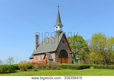 Memorial Church In Grand Pre National Historic Site, Wolfville, Nova Scotia, Canada. Grand-pré Area