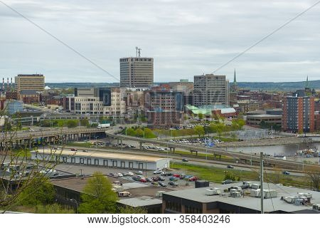 Saint John City Skyline From The Fort Howe At The Mouth Of Saint John River, Saint John, New Brunswi