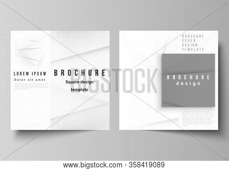 Vector Layout Of Two Square Covers Design Templates For Brochure, Flyer, Magazine, Cover Design, Boo