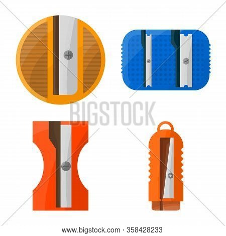Vector Illustration Of Stationery And Supplies Logo. Collection Of Stationery And Tool Stock Symbol