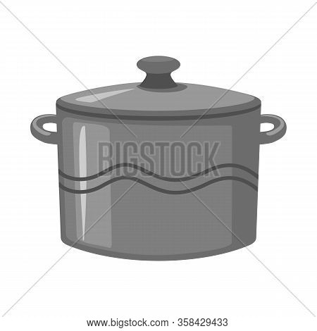 Isolated Object Of Crockery And Clean Logo. Web Element Of Crockery And Ceramic Stock Vector Illustr