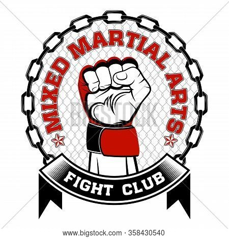 Vector Image Of A Hand Of The Fighter Of Mixed Martial Arts. Mma. Fight Club. Octagon. Octagon Warri