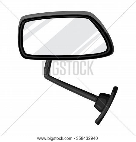Side Mirror Vector Icon.cartoon Vector Icon Isolated On White Background Side Mirror .
