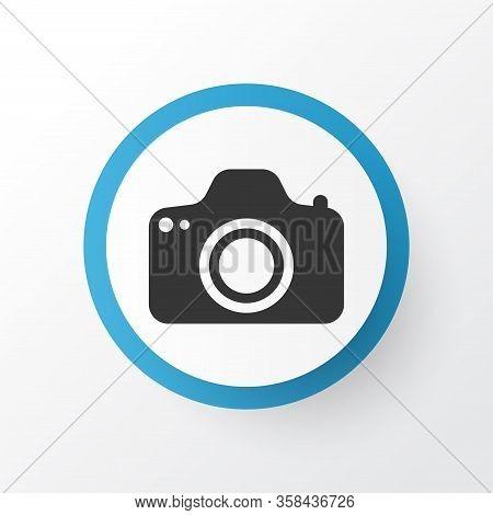 Photocamera Icon Symbol. Premium Quality Isolated Camera Element In Trendy Style.