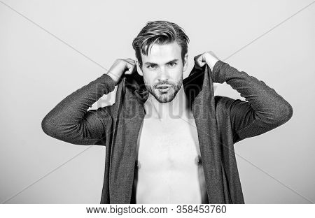Brute Masculinity Extremely Commanding Looking Conventionally Handsome. Masculinity Concept. Masculi