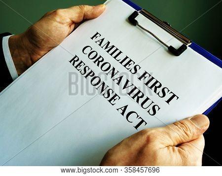 Businessman Reads Families First Coronavirus Response Act Ffcra.