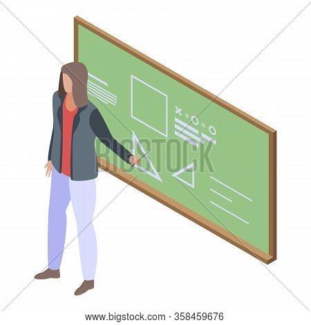 University Teacher Icon. Isometric Of University Teacher Vector Icon For Web Design Isolated On Whit