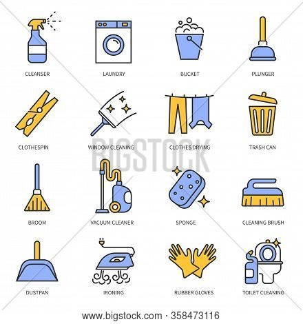 Laundry Cleaning Service. Hand Clean, Cloth And Home Cleanup. Washing Machine, Ironing And Housekeep