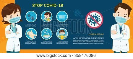 Doctor Explain Infographics For Wuhan Coronavirus Covid-19 Preventions, Wear Face Mask,wash Hands,ea