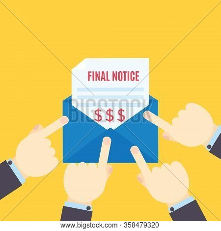 Pointing To The Unpaid Bill Final Notice Letter