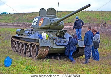 Kiev, Ukraine - Nov 04, 2012: Military Reconstruction Devoted To Kiev City Liberation From Nazi Troo