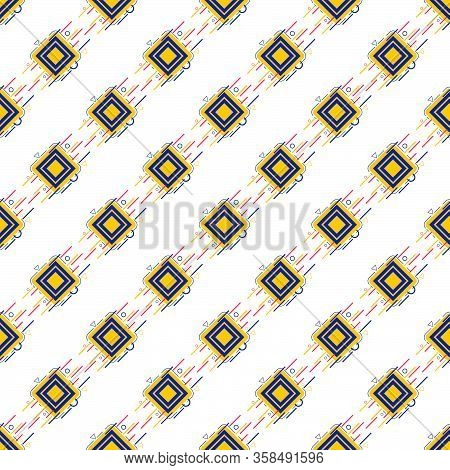 Geometric Color Pattern Bg On White Flat Decorative Vector Eps 10