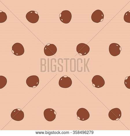 Simple Beige Vector Pattern With Chocolate Praline