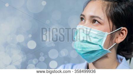 Nurses Wear Masks To Protect Against Coronavirus Covid19