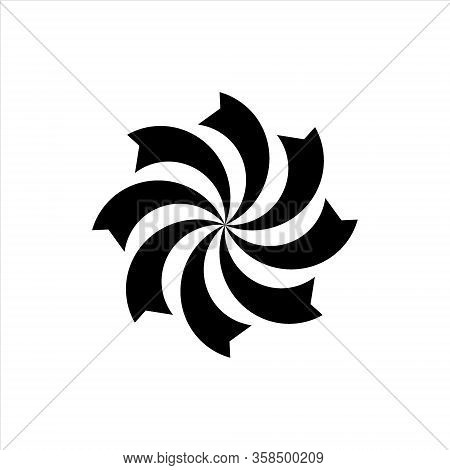 Spiral. Spiral Icon Vector. Spiral Vector Image. Which Is Isolated In White.
