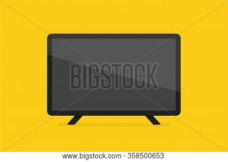 Tv Screen Vector Trendy Flat Illustration. Lcd Display Screen, Tv Digital Panel Plasma. Vector Flat