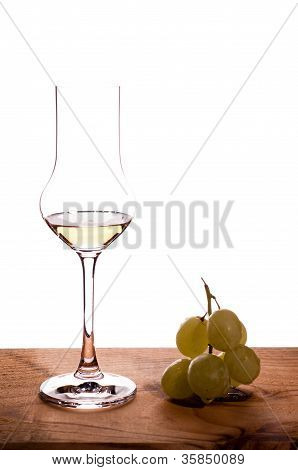 Italian Grappa With Grapes