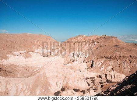 Mountains In Israel Negev Desert. Dead Sea Region