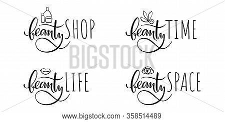 Simple Elegant Logo Design With Black Lettering On The White Background For Beauty Industry, Cosmeti
