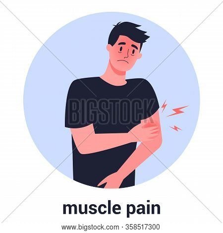 Man With Muscle Pain. Sport Trauma And Sickness. 2019-ncov